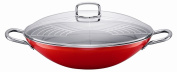 Silit Passion 7.1l Wok with Lid, Energy Red