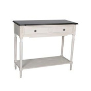 Safavieh American Home Collection Brigg White and Dark Brown Console Table