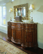 Universal Furniture Villa Cortina Sideboard Credenza with Marble Top Drawer