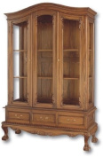Chippendale Three Door China Hutch