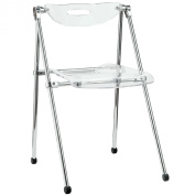 Modway Telescope Folding Chair, Clear