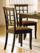 Set Of 2 Contemporary Style Wenge Finish Dining Chairs