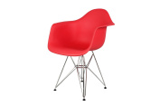 Control Brand Mid-Century-Inspired Eiffel Dining Arm Chair, Red