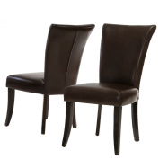 Elmore Brown Leather Dining Chairs
