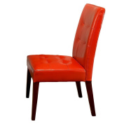 Highland Burnt Orange Leather Dining Chair