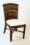 Indoor Rattan & Bamboo Side Chair