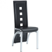 LexMod Diamond Alley Dining Chair in Black