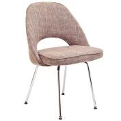 LexMod Saarinen Style Side Chair in Oatmeal Fabric