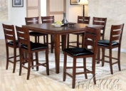 9pc Counter Height Dining Table & Stools Set in Cherry Finish by Acme