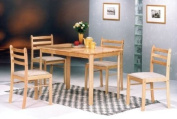 5 Pc Pack Solid Wood Dinette in Natural Finish #AD 1114a