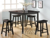 5-pc Pack Gaucho Counter Height Dining Table Set in Dark Walnut Finish ACS70288