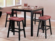 5-pc Pack Portland design Counter Height Faux Marble Top Dining Table Set Acs60046