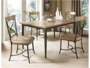 Charleston 5-piece Rectangle Dining Set With X Back Chairs