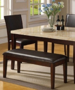 New Modern Style Counter Height Dining Bench in Brown Finish 1134
