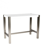 Moe's Home Collection 47 by 58.4cm by 91.4cm Riva Counter Table, White