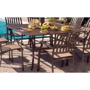 Panama Jack Island Breeze Slatted Aluminium 152.4cm . Square with Umbrella Hole - Espresso Patio Dining