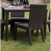 Patio Woven Square Dining Table 101.6cm