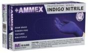 Ammex AINPF Nitrile Medical Exam Grade Latex Free Glove, Disposable, Powder Free, Large, Indigo