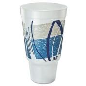 32 Oz Flush Fill Printed Impulse Foam Hot / Cold Drinking Cup