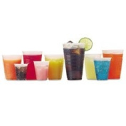 RK Crisscross Cold Drink Cups, 90ml, Clear