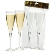 2 Disposable Champagne Glasses