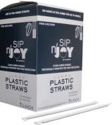 Jumbo Clear Plastic Straws Individually Wrapped 500/box