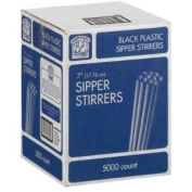 Black - Bakers & Chefs Sipper Stirrers - 17.8cm /5000ct