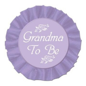 Grandma To Be Satin Button Party Accessory (1 count)