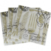 Tableware Cutlery Gold Cocktail Napkins