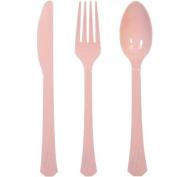 Hanna K. Signature 82665 Light Pink Heavyweight Cutlery Combo - 576 Per Case