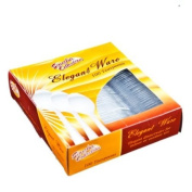 Clear Medium Weight plastic Tea Spoons - 100 Count