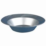 Newbury Collection 350ml Silver Plastic Soup Bowls, Heavyweight Disposable Soup-Salad Bowls 15 Per Pack