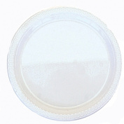 Amscan International 22.8 cm Plate Plastic, Frost White