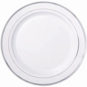 Heavyweight Plastic White Plates 19.1cm Package of 24