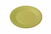 World Centric Wheat Straw/Bagasse Compostable Fibre Ripple Edge Plate, 1000 ct