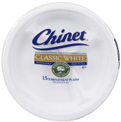 Chinet Classic White Compartment Plate, 26.4cm -15 ct