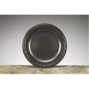 22.6cm Elite Laminated Foam Round Plates in Black