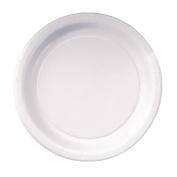 Hoffmaster PL7095 22.9cm White Deep Ridge Paper Plate