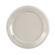 Plastic Plates 22.9cm Clear Package of 20