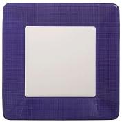 Purple Square Paper Plates Coordinate Textured 22.9cm 12 per Pack