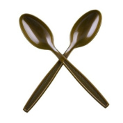 Gold Extra Heavy Weight Plastic Tea Spoons - 50 Count