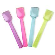 Transparent Mini Plastic Spoons (100 Count) - Perfect for Gelato Ice Cream Frozen Yoghurt