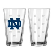 Notre Dame Fighting Irish Satin Etch Pint Glass Set