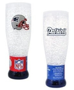 New England Patriots Crystal Pilsner Glass
