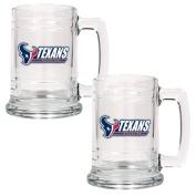 NFL Houston Texans Two Piece 440ml Glass Tankard Set