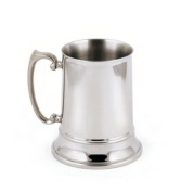 StainlessLUX 73211 Brilliant Double-walled Stainless Steel Large Beer Mug (16 Oz) - Quality Barware for Your Enjoyment