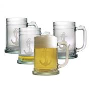Susquehanna Glass Anchor Tankard Mugs, Set of 4