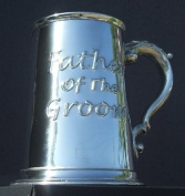 Father of the Groom Fine English Pewter Tankard