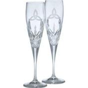 Galway Irish Crystal Trinity Knot Flutes Gift Set