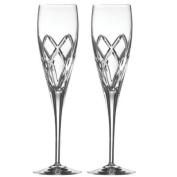Galway Irish Crystal Mystique Champagne Flutes Gift Set